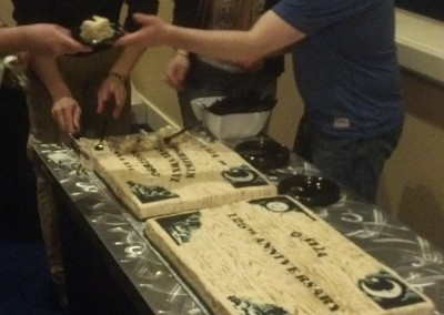 Cutting the Ouija Cakes